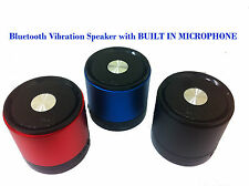 Bluetooth Vibration Speaker with BUILT IN MICROPHONE FOR PHONES TABLET PC LAPTOP