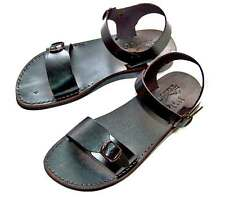 BLK/BRN UNIQUE JESUS  BIBLICAL  LEATHER   SANDALS FOR  WOMEN/MEN  35 - 46 !