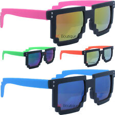 8-bit Pixelated Sunglasses Revo Mirror Lens costume party favor gift POUCH 1021