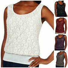 Kathleen Kirkwood Undercover Agent Lace Overlay Cami~A224299