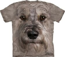 Miniature Schnauzer Face Head Dog Pet Lover Authentic The Mountain Adult T-Shirt