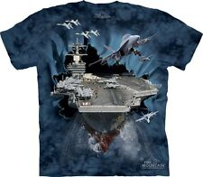 Aircraft Carrier Military Authentic The Mountain Adult T-Shirt