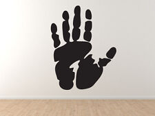 Hand Design #1 - Ink Stamp Style Palm Print - Vinyl Wall Decal