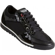 Moschino Cord Patent Leather Trainers
