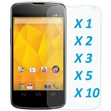 Crystal Clear LCD Screen Protector Film Cover For Google LG E960 Nexus 4 [LOT]