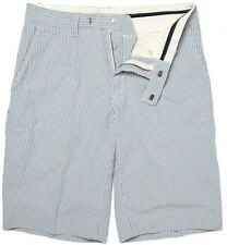 Mens blue white seersucker Ralph Lauren shorts NEW 34, 40, 42