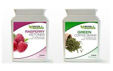 Raspberry Ketone & Green Coffee Bean Extract Bottle Pack Weight Loss Diet