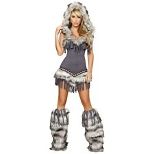 Eskimo Costume for Women Adult Sexy American Indian Girl Halloween Fancy Dress