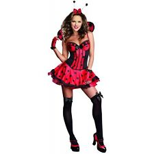 Just Buggin Costume Adult Lady Bug Halloween Fancy Dress
