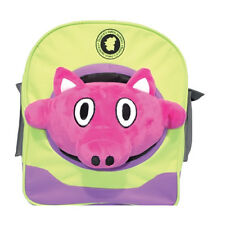 Playfull Pig School Playschool Kids Child Toddler Plush Stuffed Toy Backpack Bag