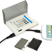 Dual Spare Battery Charger Dock W/ USB Cable For Samsung GALAXY S3 III I9300 New