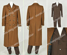 Who Purchase Doctor Dr Brown Trench Coat Cosplay Party Costume Suede Halloween