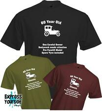 60 YEARS OLD - ONE CAREFUL OWNER, 60th BIRTHDAY T Shirt, Present, Quality, NEW