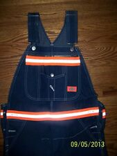 DICKIES BIB WORK OVERALLS WITH SCOTCHLITE  REFLECTIVE STRIPES