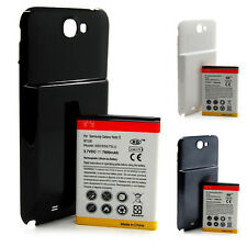 7600mAh Extended Battery + Back Case Cover NFC For Samsung Galaxy Note2 II N7100