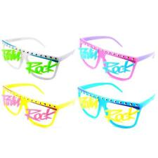 LMFAO Style PARTY ROCK Neon Glasses Novelty Fancy Dress Rave Sunglasses VTG 90s