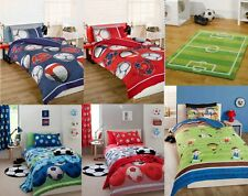 Childrens Football Single Double Duvet  Curtains Blue, Red Catherine Lansfield