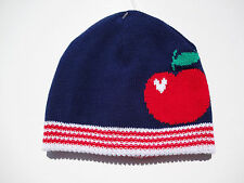 OLD NAVY GIRLS BEANIE NAVY BLUE/RED/WHITE SIZES 0-6 MONTHS AND 6-12 MONTHS NWT