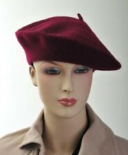 Classic French Wool Beret for Women Burgundy & Black Available