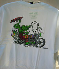 """Ed """"Big Daddy"""" Roth Rat Fink  Showtime Motorcycle T shirt by Dave Bell"""