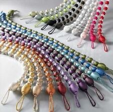 NEW MODERN CRYSTAL BEADED CURTAIN ROPE TIE BACKS/ TIEBACKS DECORATIVE HOLDBACK