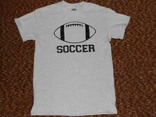 Vintage Football making fun of Soccer?  T-Shirt.Awesomely Funny! One of a kind!