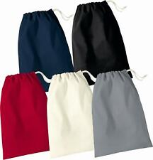 Cotton laundry storage gift plain stuff bags with drawstring xsmall -X large