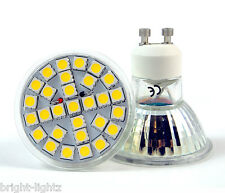 GU10 LED BULBS 7W SMD SPOT LIGHTS HIGH POWER SUPER BRIGHT WARM / DAY WHITE UK