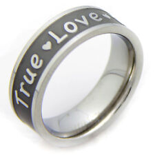 Promise True Love Waits Stainless Steel Purity Ring Valentines Day Gifts Him Her