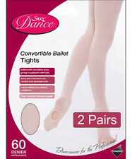 2 Pairs Silky Childrens Girls Convertible Foot Dance Ballet Tights 2 Pairs