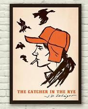 J.D Salinger Holden Caulfield Catcher In The Rye Poster Print Picture A3 A4
