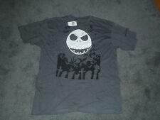 NIGHTMARE BEFORE CHRISTMAS JACK   GRAY  TEE SHIRT  NEW WITH TAGS