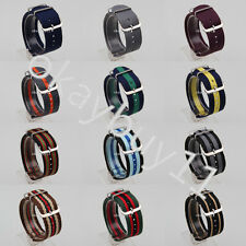 12 Styles 18 20MM Nylon Military Single / Multi Color Strap Band For James Bond