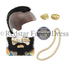 MENS BLING FANCY DRESS MR T BARACUS MOHAWK ACCESSORIES HATS GOLD CHAIN TEAM