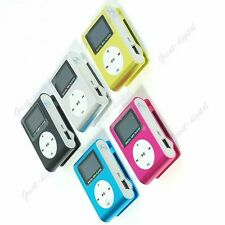 USB Mini LCD Screen Clip MP3 Player Support Up To 16GB Micro SD TF Card 5 Colors