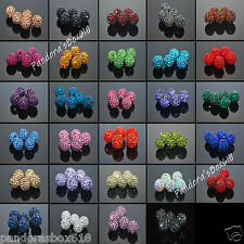 10mm Superior Shamballa Beads Clay Crystal Disco Ball Make Bracelect Xmas Gift