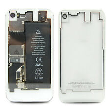 Clear Battery Back Case Cover Door Housing Rear Glass Replacement For iPhone 4S