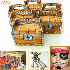 Treasure Chest Treat Boxes PIRATE Birthday Party Loot Favors Favor Box Lot