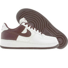 Nike Womens Air Force 1 Low (metallic summit white / deep burgundy) 318769-161
