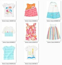 Gymboree Rainbow Cabana Tee Dress Romper Top blue white seal pink floral striped