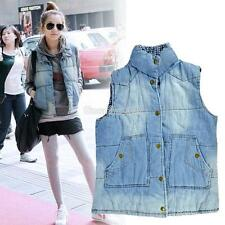 Autumn / Winter Vintage EA9 Women's Jean Legging Quilted Lining Down Vest Coat