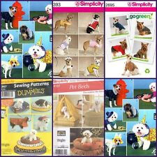 Simplicity Sewing Pattern Pets Dog Clothes &  Accessories Beds Costumes  +