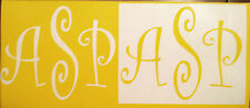Krylon, Spray Paint or Air Brush Custom Personalized Monogram Stencil