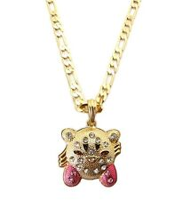 Hip Hop Rhinestone Game Character Trendy Pendant Figaro Chain Necklace MSP292