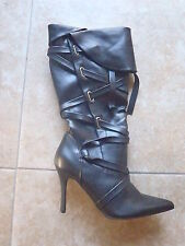 PLEASER Funtasma Bandit 120 Womens Boots Black Pirate Costume Sexy Strappy ss8