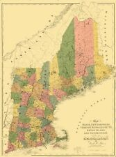 MAINE & SURROUNDING STATES (ME/VT/NH/MA/CT/RI) BY ARROWSMITH 1839