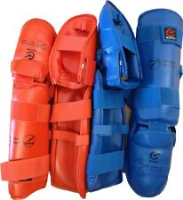WKF Approved FOOT/SHIN Pads - many sizes available in Red or Blue - NEW