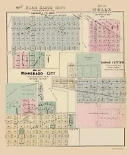 Old City Map - Blue Earth City Minnesota - Andreas 1874 - 23 x 27.56