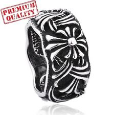 Vintage Mens Ring Titanium Steel Stainless Steel Middle Ages Style Band Ring