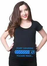 Baby Loading Maternity T Shirts Tee T-Shirt  Mom Funny Maternity Baby Shower